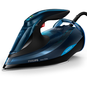Fier de calcat PHILIPS Azur Elite GC5034/20, 350ml, 260g/min, 3000W, talpa SteamGlide Plus, albastru - negru
