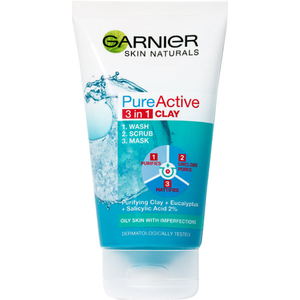 Gel de curatare 3 in 1 GARNIER Skin Naturals Pure Active, 150ml