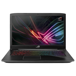 "Laptop Gaming ASUS ROG Strix GL703GE-GC024, 17.3"" Full HD, Intel Core i7-8750H pana la 4.1GHz, 8GB, SSHD 1TB, NVIDIA GeForce GTX 1050 Ti 4GB, Free Dos, Negru"
