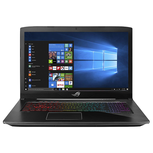 "Laptop Gaming ASUS ROG Strix GL703GE-GC007T, 17.3"" Full HD, Intel Core i7-8750H pana la 4.1GHz, 8GB, HDD 1TB + SSD 128GB, NVIDIA GeForce GTX 1050 Ti 4GB, Windows 10 Home"