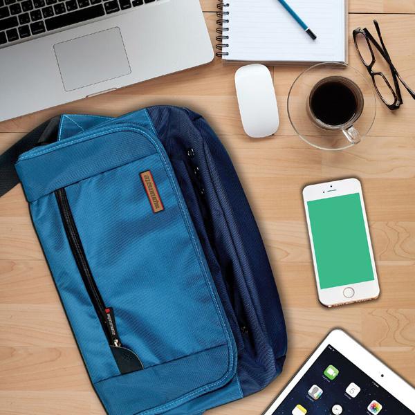 "Geanta de umar laptop PROMATE Azzure-S, 12.5"", albastru"
