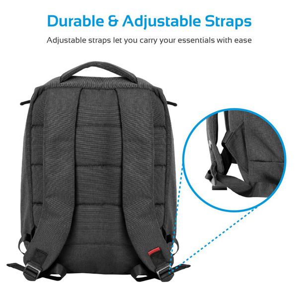 "Rucsac laptop PROMATE Citypack-BP, 15.6"", Canvas, negru"