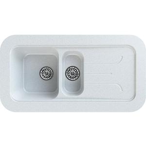 Chiuveta bucatarie GORENJE KVE 100.12, 1 1/2 cuve, picurator reversibil, compozit, alb