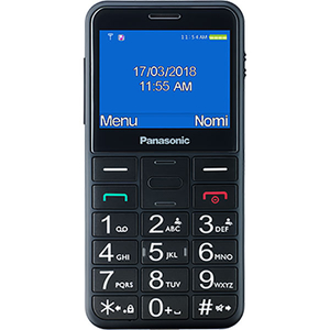 Telefon PANASONIC KX-TU150EXB, buton SOS, 2G, Single SIM, Black