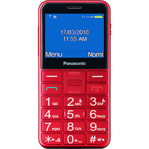 Telefon PANASONIC KX-TU150EXR, buton SOS, 2G, Single SIM, Red
