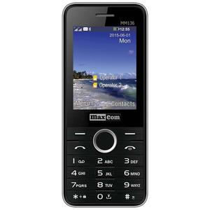 Telefon mobil MAXCOM Clasic MM136, 2G, Dual SIM, Black