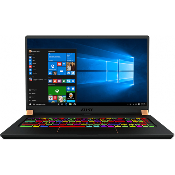 "Laptop Gaming MSI GS75 Stealth 8SF, Intel Core i7-8750H pana la 4.1GHz, 17.3"" Full HD, 16GB, SSD 512GB, NVIDIA GeForce RTX 2070 Max-Q Design 8GB, Windows 10 Home"