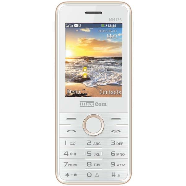 Telefon mobil MAXCOM Clasic MM136, 2G, Dual SIM, White