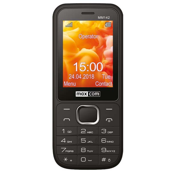 Telefon MAXCOM Clasic MM142, 2G, Dual SIM, Black