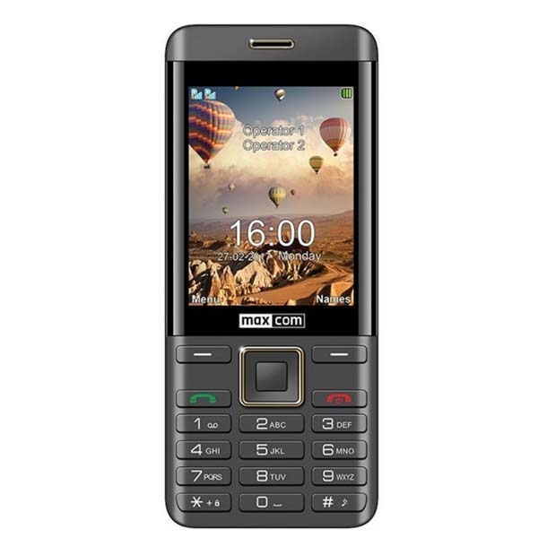 Telefon mobil MAXCOM Clasic MM236, 2G, Dual SIM, Black