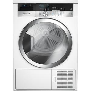 Uscator de rufe GRUNDIG GTN482617GCH, HomeWhiz, Wi-Fi, pompa de caldura, 8kg, 16 programe, clasa A+++, alb