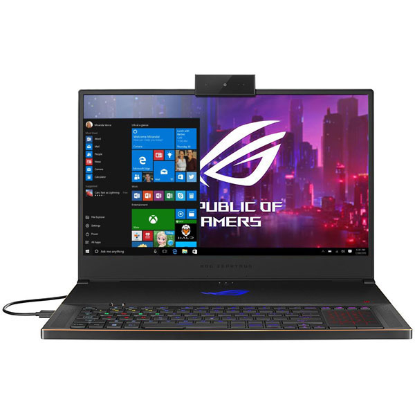 "Laptop Gaming ASUS ROG Zephyrus S GX701GXR-H6081T, Intel Core i7-9750H pana la 4.5GHz, 17.3"" Full HD, 32GB, SSD 1TB, NVIDIA GeForce RTX 2080 Max-Q Design 8GB, WebCam, Windows 10 Home, negru"