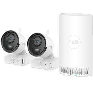 Kit supraveghere video Wireless HOMEGUARD CCTV HGNVK68002, 2 camere 1080p, NVR 6 canale, alb