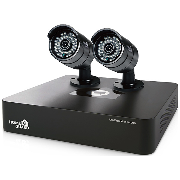 Kit supraveghere video HOMEGUARD Smart HD CCTV HGDVK46702, 2x 720p, 4 canale, negru