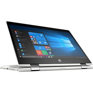 """Laptop 2 in 1 HP ProBook x360 440 G1, Intel Core i7-8550U pana la 4.0GHz, 14"""" Full HD Touch, 8GB, SSD 256GB, NVIDIA GeForce MX130 2GB, Windows 10 Pro, argintiu"""