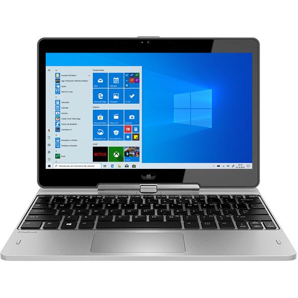 """Laptop 2 in 1 HP EliteBook Revolve 810 G3, Intel® Core™ i5-5300U pana la 2.9GHz, 11.6"""" HD Touch, 4GB, SSD 256GB,  Intel® HD Graphics 5500, Windows 10 Pro, Argintiu"""