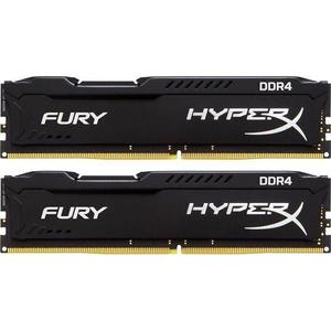 Memorie desktop KINGSTON HyperX Fury Black, 2x4GB DDR4, 2666Mhz, CL15, HX426C15FBK2/8