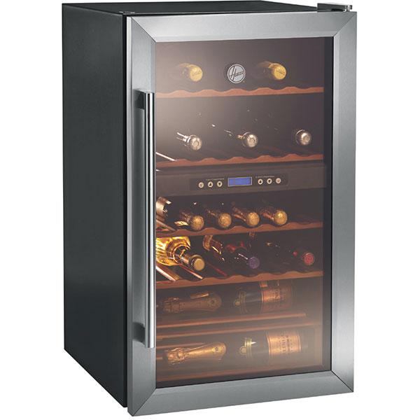 Racitor de vinuri HOOVER HWC2335, 150 l, 84 cm, G, negru/ inox