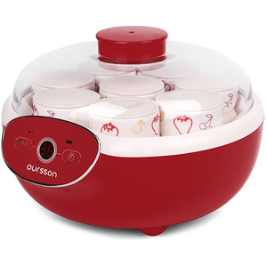 Aparat pentru preparat iaurt OURSSON FE1105D/RD, 1l, 3 programe, rosu