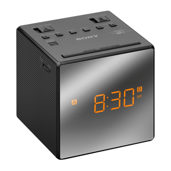 Ceas desteptator cu radio SONY ICF-C1TB, negru