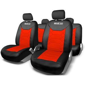 Set huse scaune SPARCO IN2164, rosu-negru