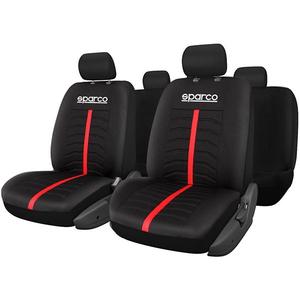 Set huse scaune SPARCO IN2168, negru-rosu