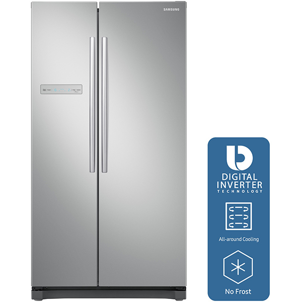 Side-by-Side SAMSUNG RS54N3003SA/EO, 535 l, 178.9 cm, A+, gri