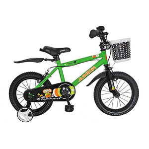 "Bicicleta de copii JUNIOR J1401A, 14"", verde"