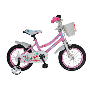 "Bicicleta de copii JUNIOR J1602A, 16"", roz HK"