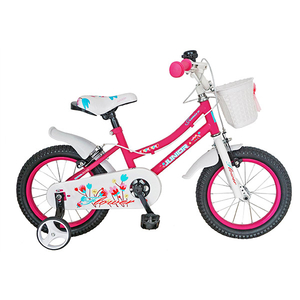 "Bicicleta de copii JUNIOR J1602A, 16"", roz"