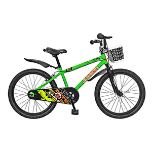 "Bicicleta de copii JUNIOR J2001A, 20"", verde"