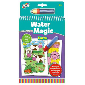 Set carte de colorat GALT La ferma Water Magic, 3 ani +, multicolor