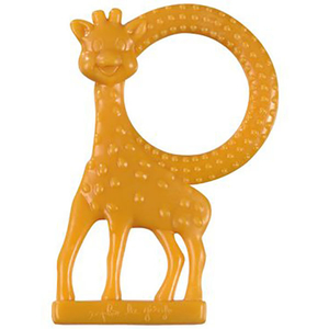 Inel dentitie cu aroma de vanilie VULLI Girafa Sophie, 0 luni+