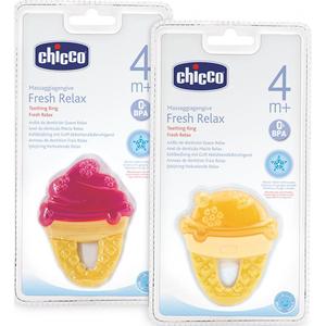 Jucarie dentitie CHICCO forma inghetata, 4 luni +, multicolor