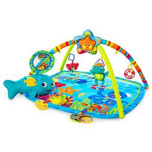 """Saltea de joaca BABY EINSTEIN """"Prietenii din adancul marii"""", 0 - 12 luni, multicolor"""