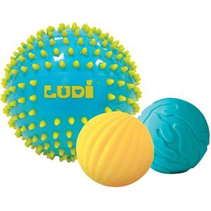 Set mingi senzoriale LUDI LUD30021, 6 luni+, galben-bleu