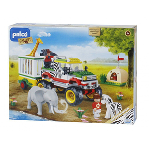 Joc constructie PRICO Safari Jeep 35516J, 5 ani+, 248 piese