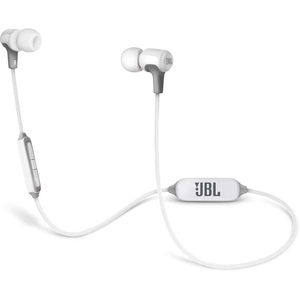 Casti JBL E25BT, Bluetooth, In-Ear, Microfon, alb