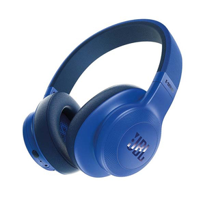 Casti JBL E55BT, Bluetooth, On-Ear, Microfon, albastru
