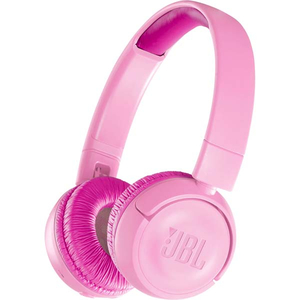Casti pentru copii JBL JR300BT, Bluetooth, On-Ear, roz