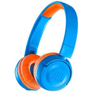 Casti pentru copii JBL JR300BT, Bluetooth, On-Ear, albastru/rosu