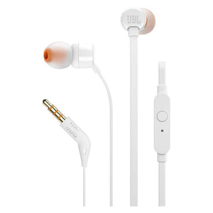Casti JBL TUNE 110, Cu Fir, In-Ear, Microfon, alb