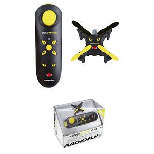 Mini drona cu radiocomanda RADIOFLY Space Panther 40003J, 12 ani+, raza actiune 25m, negru-galben
