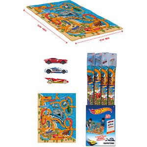 Set covor si o masinuta HOT WHEELS 42029J, 3 ani+, multicolor