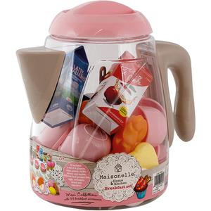 Set cafetiera cu accesorii pentru mic dejun MAISONELLE 44005J, 3 ani+, multicolor