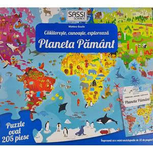 Joc educativ SASSI Cunoaste si Exploreaza - Planeta Pamant, 6 ani +, multicolor