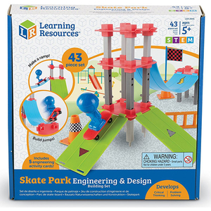 Set STEM LEARNING RESOURCES Skate Park LER2845, 5 - 9 ani, 35 piese