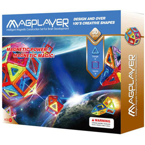 Joc constructie magnetic MAGPLAYER MPB-30, 3 - 10 ani, 30 piese