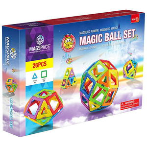 Joc constructie magnetic MAGSPACE Magic Ball, 3 ani +, 26 piese