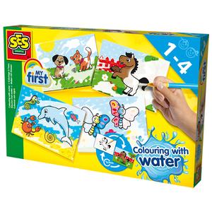 Set pentru colorat cu apa SES My First Colouring with water S14421, 1 - 4 ani, multicolor